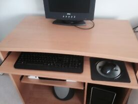 PC desk and stool