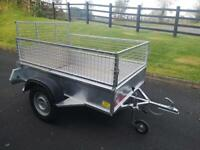 Trailer 6x4 single axle with mesh