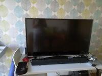43 inch 4k LG TV and sound bar