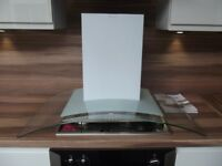 90cm Curved Glass Designer Cooker Hood