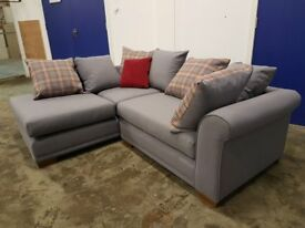 SOFA HEAVEN LAURENT RIGHT HAND SIDE CORNER SOFA SHADOW GREY FABRIC SETTEE DELIVERY AVAILABLE