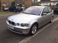 BMW 325Ti Hatchback Silver low mileage for age MOT til May 2017