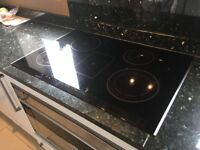 Siemens 6 ring black induction hob, used , in perfect working order