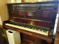 John brinsmead and sons dark wood upright piano