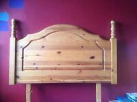 Single Pine Headboard
