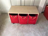 3 Cube Storage Set/Bookcase with 3 storage boxes