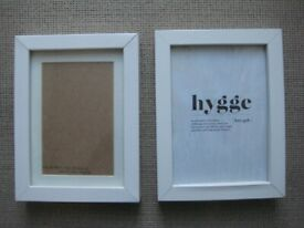 One Ribba and One Hygge Box White Wooden Picture Frames with Glass Over for £6.00