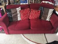 Sofabed red fabric NEED GONE ASAP