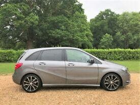 2014 Mercedes B200 CDI Sport 60 MPG Auto Nav Leather Cruise Revers Camera 18s FMBSH Long MOT £30 Tax