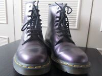 Dr Martens leather boots size 5 - purple shimmer
