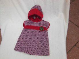 Baby Girls Spanish Dress and Bonnet.