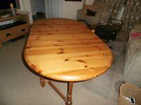 Pine Gatelegged Table