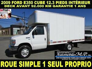 2009 Ford E-350 CUBE 12.3 PIEDS DECK AVANT 92.000 KM