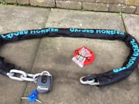 EXTRA HEAVY DUTY MONSTER SECURITY CHAIN AND LOCK 2m 16mm