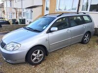 2004 Silver Toyota Corolla 1.6 with MOT to May 2017