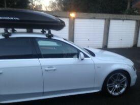 Audi A4 S-line, immaculate condition including roof box and Dunlop winter sport tyres. Low mileage