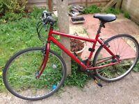 Red bike, hardly used