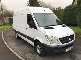 2011 Mercedes Sprinter 313 CDi MWB Hi Roof Panel Van 1 Prev Owner Full Franchise SH HPI Clear NO VAT
