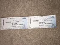 2 seating tickets for Drake at the Hydro