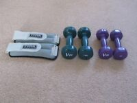 EXERCISE WEIGHTS - YORK FITNESS Ankle/Wrist 1kg: V-Fit Handheld 1kg: V-Fit Handheld 1.5kg