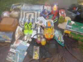car boot lot bargain re sale toys candles nike trainers knex pirate ship 2x bathroom sets brand new
