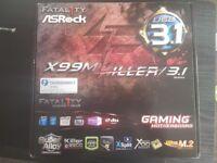 MSI X99M Killer Fatality LGA2011 V3 + 6 Core xeon ES CPU + 16GB DDR4