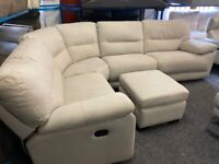 NEW - EX DISPLAY LAZYBOY GREY NELLER RECLINER CORNER GROUP SOFA SOFAS 70% Off RRP