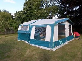 Pennine Fiesta trailer tent built well in 1997. Awning, accessories and refurbished cabinets.