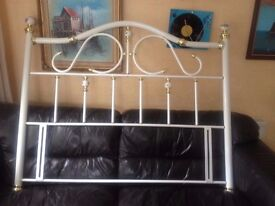HEADBOARD antique style king size as new and unused metal