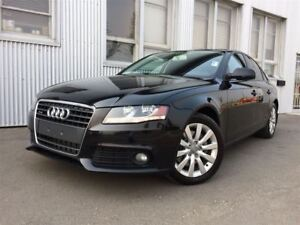 2012 Audi A4 2.0T, AWD, LEATHER, SUNROOF, BLUETOOTH.
