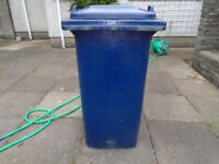 BLUE WHEELIE BIN IN GOOD CONDITION, CLEANED EACH TIME AFTER BEING EMPTIED