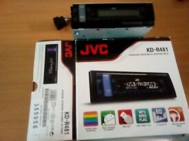jvc car radio/cd player brought from currys never used still in box collection only