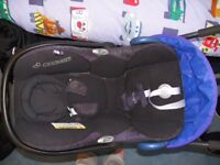Mamas & Papas Armadillo Peacock Blue Pushchair, with Maxi Cosi car seat and accessories