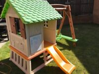 Smoby Toddler Playhouse with Swing & Slide