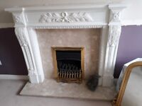 Fireplace, Surround and Gas Fire
