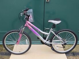 """SuperTrak Hollywood 24""""18 Speed Girls Bike, Pink and Silver, Brand New."""