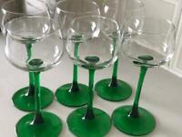 Wine glasses - french - vintage
