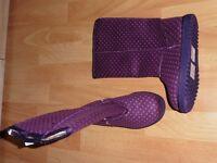 BN Verbaudet Purple Girls Boots Size 11.5