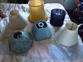 Lampshades.........a mixed assortment see pics please