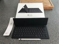 iPad Pro Smart Keyboard and pencil