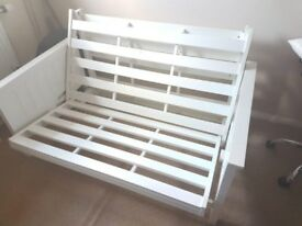 Wooden Double bed settee base just 30.00