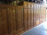 Solid wood / pine wardrobe