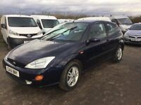 FORD FOCUS 3 DOOR HATCHBACK LOVELY DRIVER IN NAVY BLUE CAME IN PX TODAY ANY TRIAL WELCOME PX CONSIDE