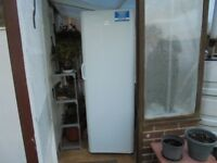 Indesit tall upright freezer