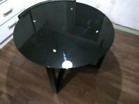 Round Glass Black Dining Table £10