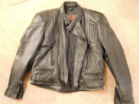 Just Bikers men's leather motorcycle jacket. Hardly used. Size44.