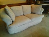 3 seater sofa and matching stool.