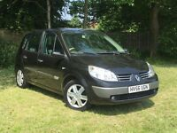 RENAULT SCENEIC DYNAMIQUE 56 PLATE++1.6 PETROL MANUAL++LOW MILES++F/S/H++PANAROMIC/ ELECTRIC SUNROOF