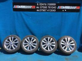 """BMW 2 SERIES F45 F46 V SPOKE 18"""" ALLOY WHEELS AND TYRES 6855094 2014-2018"""
