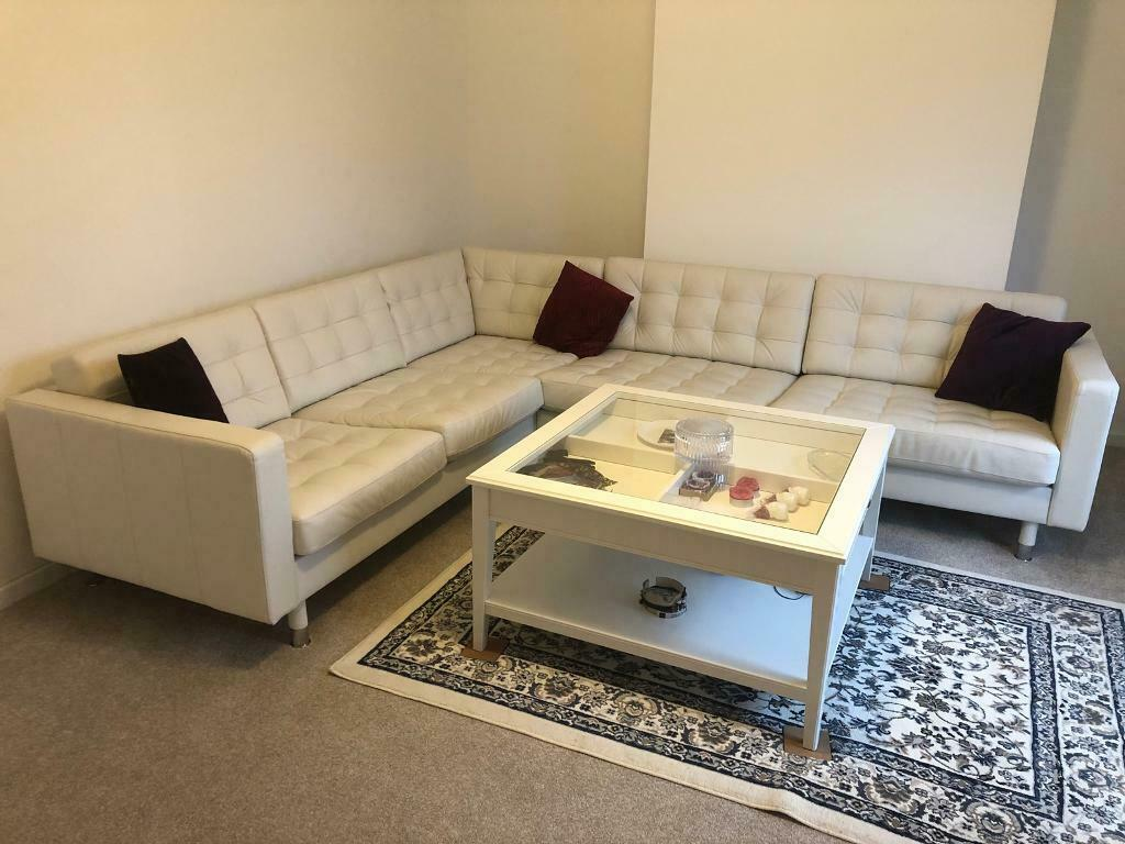 Incredible Ikea Landskrona White Corner Leather Sofa 5 Seat Excellent Condition In Ealing Broadway London Gumtree Gmtry Best Dining Table And Chair Ideas Images Gmtryco